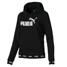 Puma Womens Amplified Hoodie Black XS, Black, rebel_hi-res