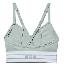 Under Armour Womens Seamless Longline Sports Bra Green XS, Green, rebel_hi-res