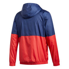adidas Mens Axis Wind Jacket Blue S, Blue, rebel_hi-res