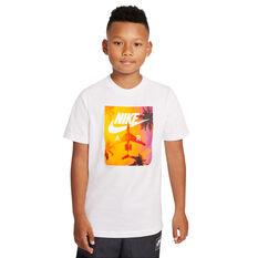 Nike Boys Sportswear Sunrise Tee White S, White, rebel_hi-res