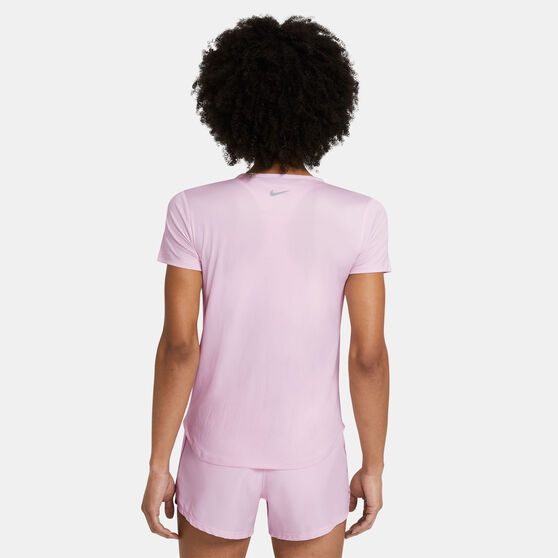 Nike Womens Swoosh Run Running Tee, Pink, rebel_hi-res