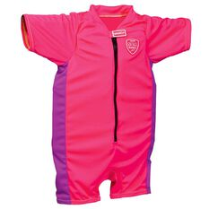 Speedo Sea Squad Junior Girls Float Suit Pink 2 - 3, Pink, rebel_hi-res
