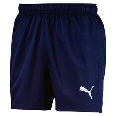 Puma Mens Essentials Woven 5in Shorts Navy S, Navy, rebel_hi-res