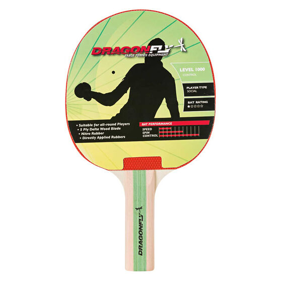Dragonfly Player 1000 Table Tennis Bat, , rebel_hi-res
