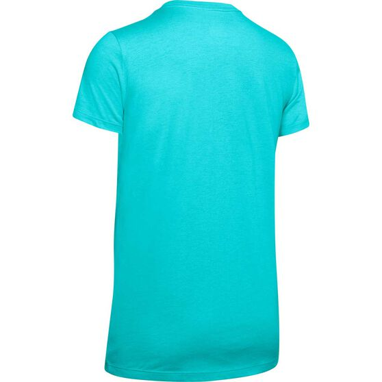 Under Armour Womens Graphic Sportstyle Classic Tee, Blue, rebel_hi-res