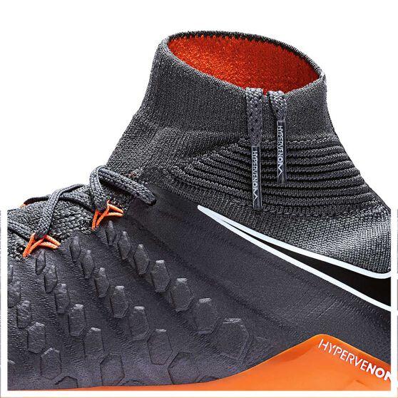 Nike Hypervenom Phantom III Elite Junior Football Boots Grey / Orange US 4 Junior, Grey / Orange, rebel_hi-res
