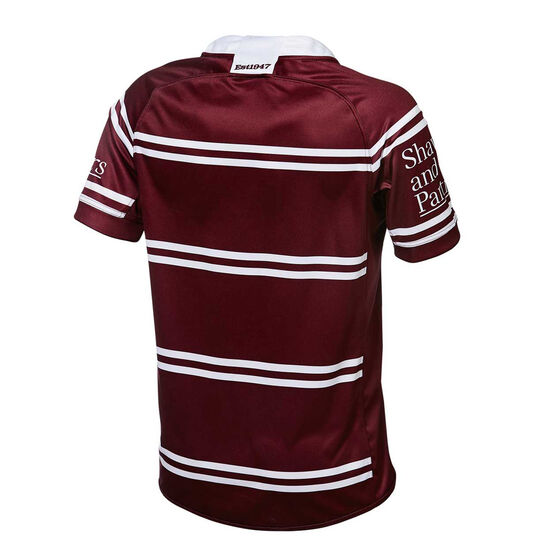 Manly Warringah Sea Eagles 2019 Mens Home Jersey Maroon S, Maroon, rebel_hi-res
