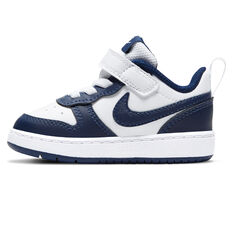 Nike Court Borough Low 2 Toddlers Casual Shoes White/Navy US 4, White/Navy, rebel_hi-res