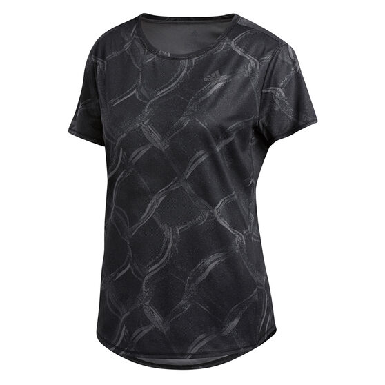 adidas Womens Own The Run Graphic Tee, Grey, rebel_hi-res