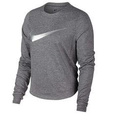 Nike Womens Dry Element Running Top Grey XS, Grey, rebel_hi-res