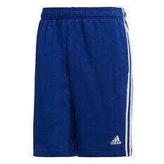 adidas Mens Essential 3 Stripes Shorts Blue S, Blue, rebel_hi-res