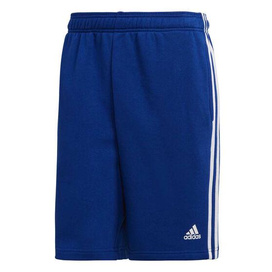 adidas Mens Essential 3 Stripes Shorts, Blue, rebel_hi-res