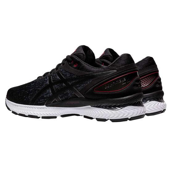 Asics GEL Nimbus 22 Knit Mens Running Shoes, Black, rebel_hi-res