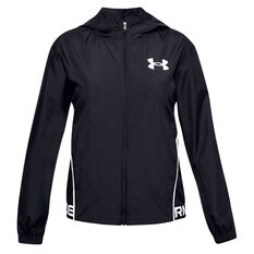 Under Armour Girls Play Up Woven Jacket Black XS, Black, rebel_hi-res