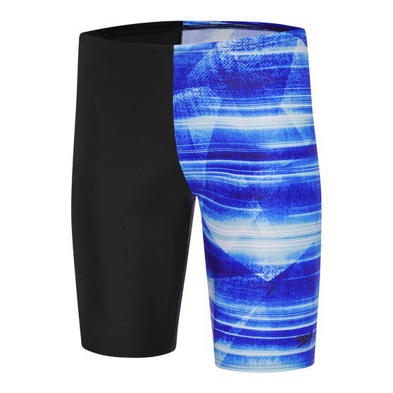 Speedo Mens Leisure Atlanta Waterboy Swim Shorts, Black, rebel_hi-res