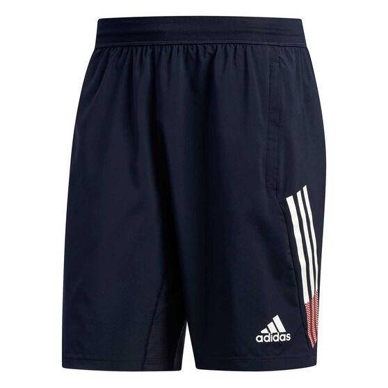 adidas Mens 4KRFT 3 Stripes Woven 9in Training Shorts, Blue, rebel_hi-res