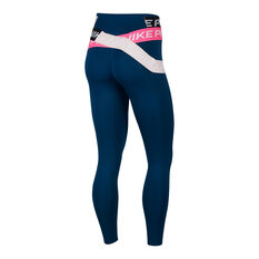 Nike Womens Icon Clash One Luxe 7/8 Tights Blue XS, Blue, rebel_hi-res