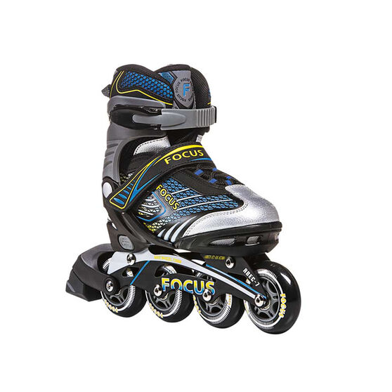 Addlon Focus Adjustable Boys Skates Yellow S, Yellow, rebel_hi-res