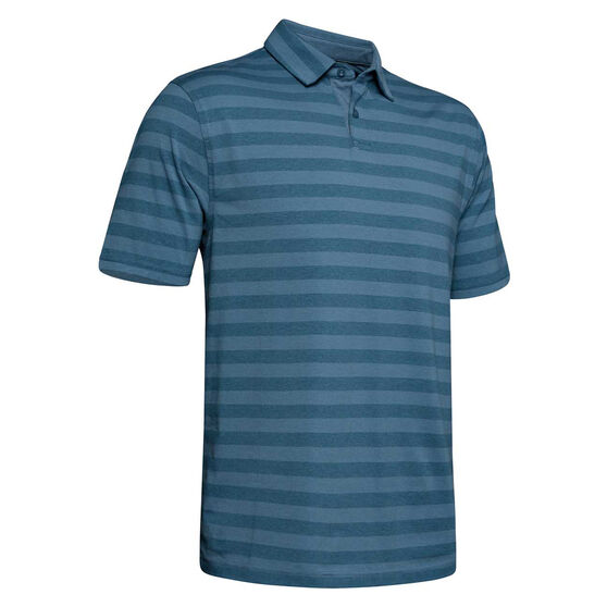 Under Armour Mens Charged Cotton Scramble Stripe Polo, , rebel_hi-res