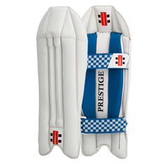 Gray Nicolls Prestige Wicketkeeping Pads White Adult, White, rebel_hi-res