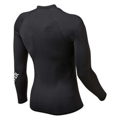 Quiksilver Mens All Time Long Sleeve Rash Vest Black S, Black, rebel_hi-res