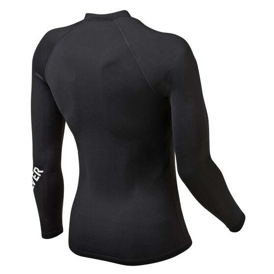 Quiksilver Mens All Time Long Sleeve Rash Vest, Black, rebel_hi-res