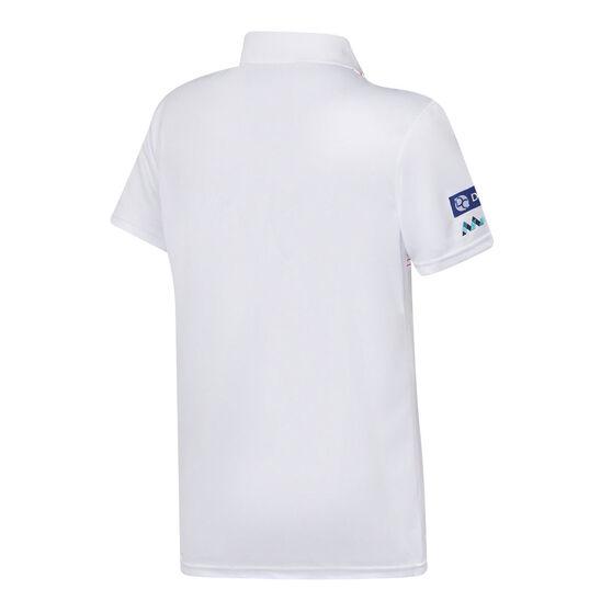 St George Illawarra Dragons 2021 Mens Heritage Polo, White, rebel_hi-res