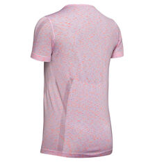 Under Armour Womens Vanish Seamless Spacedye Tee Pink XS, Pink, rebel_hi-res