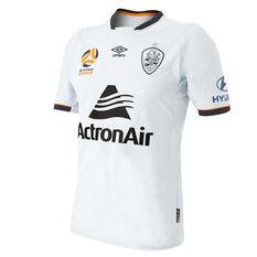 Brisbane Roar 2018 / 19 Mens Away Jersey Grey / Black S, Grey / Black, rebel_hi-res