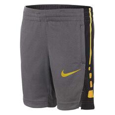 Nike Boys Elite Stripe Basketball Shorts Black 4, Black, rebel_hi-res