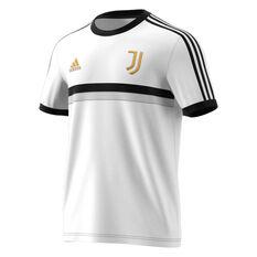 Juventus 2020/21 Mens 3-Stripes Tee White XS, White, rebel_hi-res