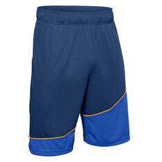 Under Armour Mens Baseline 10in Shorts, Blue, rebel_hi-res