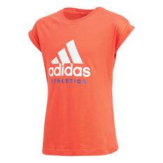 adidas Girls Sport ID Tee Orange 8, Orange, rebel_hi-res