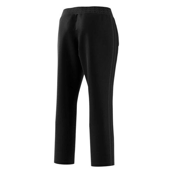 adidas Womens 3-Stripes Woven 7/8 Pants, Black, rebel_hi-res