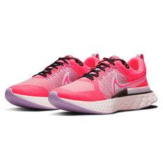 Nike React Infinity Run Flyknit 2 Womens Running Shoes, Pink, rebel_hi-res