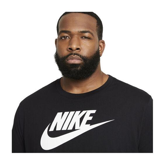 Nike Mens Sportswear Icon Futura Tee, Black, rebel_hi-res