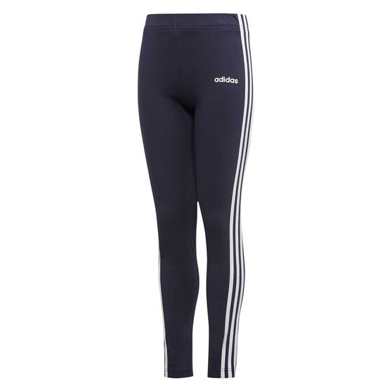 adidas Girls Essentials 3 Stripes Tights, Navy, rebel_hi-res