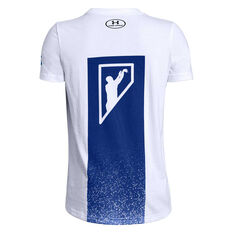 Under Armour Boys SC30 Gradient Tee White / Blue XS, White / Blue, rebel_hi-res