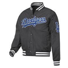 Los Angeles Dodgers Mens Bomber Jacket Black S, Black, rebel_hi-res