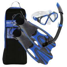 Aqua Lung Sport Adult Hawkeye Snorkel Set Blue S, Blue, rebel_hi-res