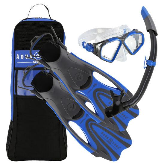 Aqua Lung Sport Adult Hawkeye Snorkel Set, Blue, rebel_hi-res