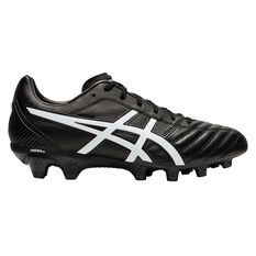 Asics Lethal Flash IT Football Boots Black / White US Mens 7 / Womens 8.5, Black / White, rebel_hi-res
