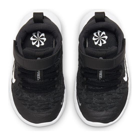 Nike Free RN 2021 Toddlers Shoes, Black/White, rebel_hi-res