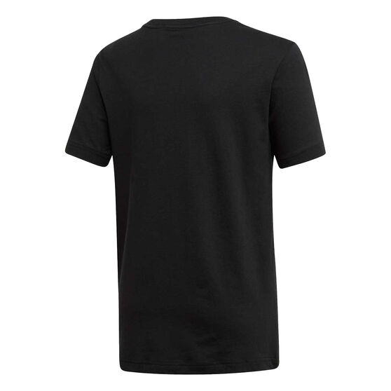 adidas Boys Essentials Brand Tee, Black / White, rebel_hi-res