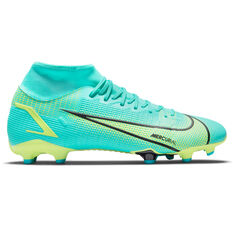 Nike Mercurial Superfly 8 Academy Football Boots Blue/Lime US Mens 4 / Womens 5.5, Blue/Lime, rebel_hi-res