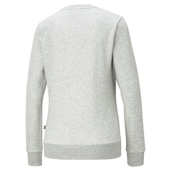 Puma Womens Essentials Logo Crew Neck Sweater, Grey, rebel_hi-res