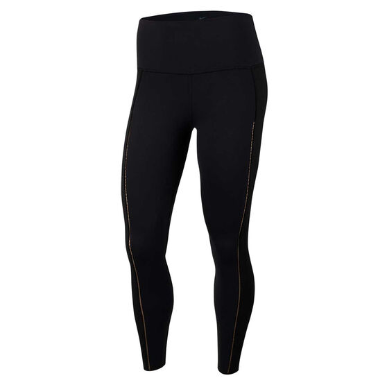 Nike Yoga Womens Luxe Ribbed 7/8 Tights, Black, rebel_hi-res