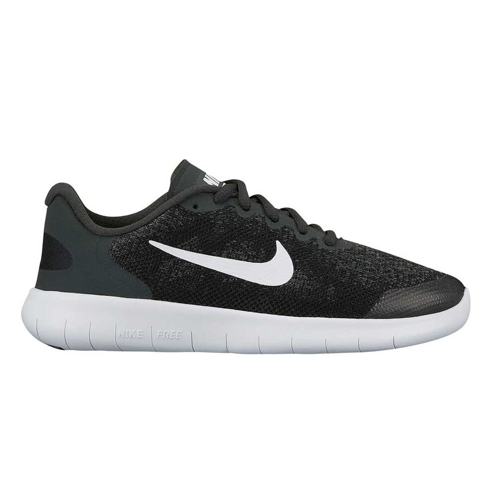 abfad3f607e7 Nike Free Run 2017 Boys Running Shoes Black   White US 7