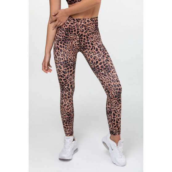 L'urv Womens Leopard Valley 7/8 Tights, Print, rebel_hi-res
