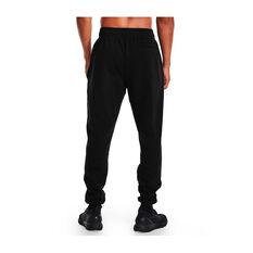 Under Armour Mens Rival Fleece Lockertag Jogger Pants, Black, rebel_hi-res